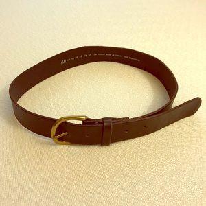 H&M distressed wide leather belt black XS